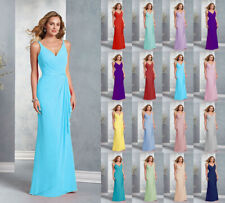 Formal V-neck Long Party Ball Gown prom Bridesmaid Evening Dresses Size 6-24