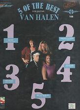 VAN HALEN - 5 OF THE BEST FOR GUITAR  - OZ 40 PAGE SONGBOOK