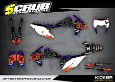 KTM EXC Dekor Grafik Set 125 250 300 350 450 500 2017 2018 '17 '18 SCRUB
