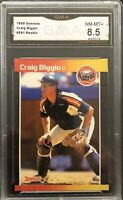 1989 Donruss #561 Craig Biggio RC Graded GMA 8.5 - HOF - Houston Astros