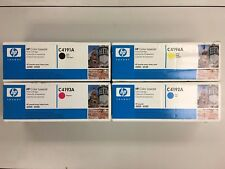 HP C4191A, C4192A, C4193A, C4194A - Black, Cyan, Magenta, Yellow Toners - NEW
