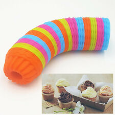 12Pcs/Lot Pumpkin Shape 3D Cake Cup Silicone Muffin Cupcake Mold Baking Utensil