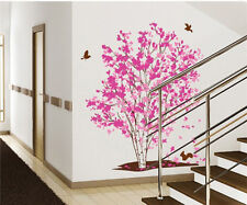 3D Red Maple Tree Wall stickers Vinyl Murals Wall Decal Print Living Room Decor