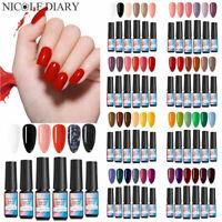NICOLE DIARY 6 PCS/SET Colorful Gellack Soak Off Base Top Coat UV Gel Nagellack