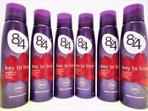 """8x4  """"Key To Love"""" 48h Deodorant Deo Spray   6 x 150 ml"""