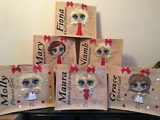 Personalised Jute Bags Bridesmaid Mother Of Bride Bride Flower Girl Gifts Unique