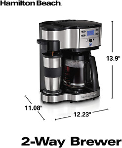 Hamilton Beach 2-Way Brewer Coffee Maker, Single-Serve and 12-Cup Pot, Stainless
