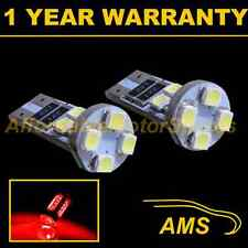 2x W5w T10 501 Canbus Error Free Rojo 8 Led sidelight Laterales Bombillos sl101603