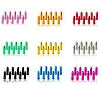 10  x ANODISED COLOURED ALLOY BIKE CYCLING BRAKE GEAR INNER CABLE END CAPS
