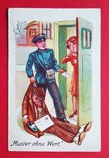 Humor AK Post um 1930 Postbote Briefträger Muster ohne Wert   ( 25136