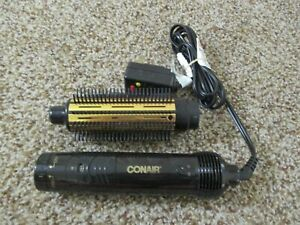 "CONAIR LARGE 1 1/2"" HOT AIR CURLING BRUSH CD160JBCS STYLE  DRY GOLD DUAL VOLT"