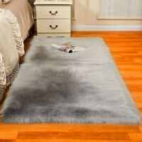 Comfy Fluffy Faux Fur Rug Area Rugs Hairy Soft Shaggy Bedroom Carpet Floor