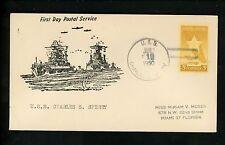 US Naval Ship Cover USS Charles S Sperry DD-697 Korean War 7/1/1950