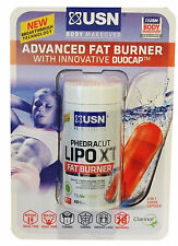 USN Advanced Fat Burner 60 Caps, Weight Loss, Slimming Pill Lipo xt