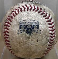 STEPHEN PISCOTTY 75th CAREER HIT GAME-USED BRAVES TURNER LOGO MLB BASEBALL A's