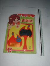 Miss Merry's ANIMATES Toy Doll Mirror Comb VTG 70's MOD Kiddles Big Eye Chicken
