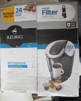 Keurig K65 Signature Coffee Brewer W/Water Filter - Unused