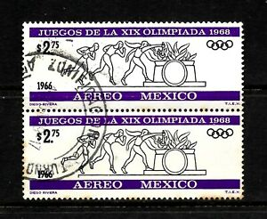 1966 Mexico, $ 2.75 Black & Purple Air, Olympic Games, Fine Used