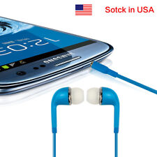 For Samsung Htc Lg iPhone In-Ear Earbuds Bass Stereo Headset Headphone Blue