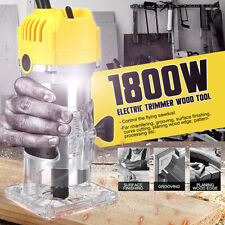 1800 Watt 1/4'' Electric Hand Trimmer Wood Laminate Palm Router Joiners Kit