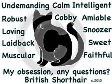 British Shorthair Cat My Obsession, Questions? T-shirt Choice size color