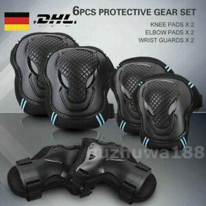 Erwachsenen Protektorenset 6Pcs Sport Inlineskating Schutzausrüstung Sets M/L DE