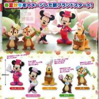 Disney Set 5 Figure Topolino Minnie Chip Dale Pluto Takara Tomy Easter Gashapon