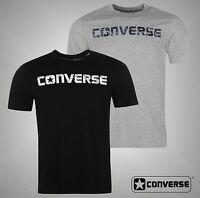 New Mens Branded Converse Lightweight Basic T Shirt Printed Logo Top Size S-XXL
