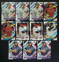 2020 Topps Chrome Baseball Fire Preview Lot of 12 Cards - TROUT JUDGE GRIFFEY 🔥