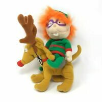 Rugrats Chuckie Spike Plush Stuffed Animals Christmas Elf Reindeer 1997 Vintage