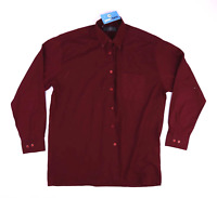 "Barney Miller Red Mens 15.5"" Collar Casual Shirt Size 40"