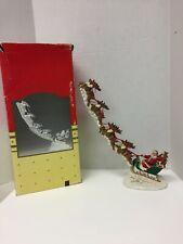 "Santa Sled 8 Reindeer Christmas 16""L Jaimy Midwest Cannon Falls 1993 Vintage"