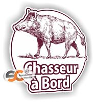Sticker Chasseur à Bord - Autocollant Chasse Chass002