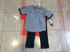 Boys 3 pc set, size 4T, Us Polo, jeans, button down shirt and tee