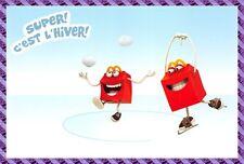 """Carte Publicitaire Mc Donald -  """" Super c'est l'hiver """""""