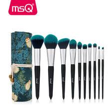 MSQ Pro Makeup Brushes Set Foundation Powder Eyeshadow Eyeliner Lip Brush Green