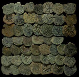Coins Austrias Period, Medieval Times (Bronze, Uncleaned) - 50 pieces Lot