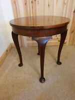 Edwardian Grindlay Clapham Occasional Table With Queen Anne Legs