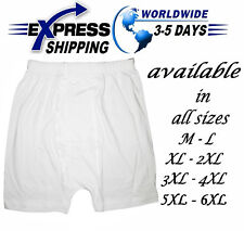 100% Egyptian Cotton Short Mens Men Underwear Boxer Brief White Comfort Clothing