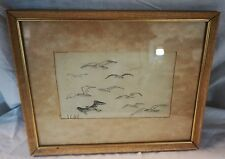 1933 ORIGINAL Pencil Sketch by Bill Vandenhill LCH Vreugdenhill Framed Amazing!
