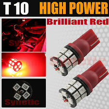 2X T10 921 High Power 2835 LED Red License Plate Interior SMD Light Bulbs