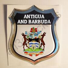 Pegatina Antigua y Barbuda Escudo de Armas 3D Emblema Vinilo Adhesivo Resina