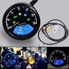 12000rpm Waterproof Motorcycle Gauge LCD Digital Odometer Speedometer Tachometer