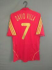 David Villa Spain Jersey 2008 2009 Home M Shirt Camiseta Football Adidas ig93