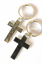 Jesus Christ Cross Crucifix Silver tone Key Ring Keyring