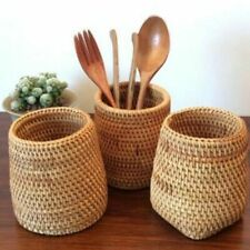 Handmade Rattan Kitchen Accessories Storage Basket Knives Forks Other Stuff Box