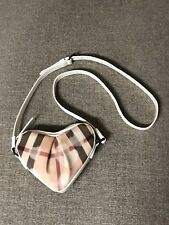Authentic BURBERRY Nova Check Mini Heart Crossbody Bag