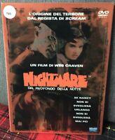 Nightmare 1 1984 DVD Dal Profondo della Notte Wes Craven Ex Noleggio Come Foto N