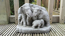 THAI ELEPHANTS FENG SHUI KOI BUDDHA Cast Stone Garden Ornament Statue⧫onefold-uk
