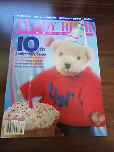 Teddy Bear Review Magazine Jan/Feb 1996 Muffy Paper Bear 10th Anniversary Issue